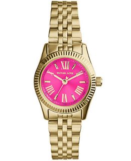 Michael Kors Womens Mini Lexington Gold Tone Stainless Steel Bracelet Watch 26mm MK3270   Watches   Jewelry & Watches