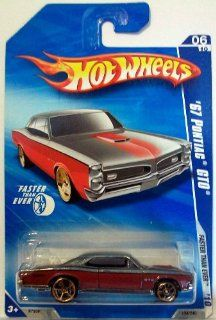 Hot Wheels 2010 134 Red/Grey '67 Pontiac GTO Faster Than Ever 164 Scale Toys & Games