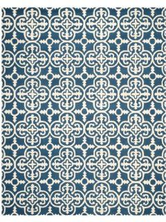 Safavieh Cambridge Collection CAM133G Handmade Wool Area Rug, 5 by 8 Feet, Navy and Ivory
