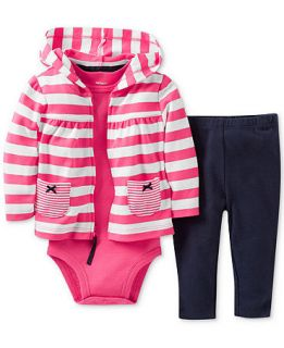 Carters Baby Girls 3 Piece Jacket, Bodysuit & Pants Set   Kids