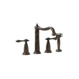 "Richelieu A133BORB Oil Rubbed Bronze Universal Two Handle Kitchen Faucet With Side Spray 9""   Kitchen Sink Faucets"