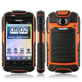 Hot Sell Discovery V5 Details about Waterproof Dustproof Shockproof Smart Phone Android 4.0 MTK6515 1.0GHz WiFi 3.5 Inch Capacitive Screen multi languages  Orange Cell Phones & Accessories