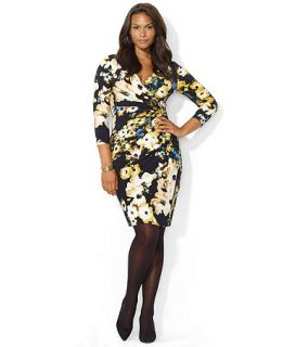 Lauren Ralph Lauren Plus Size Long Sleeve Floral Print Dress   Dresses   Plus Sizes