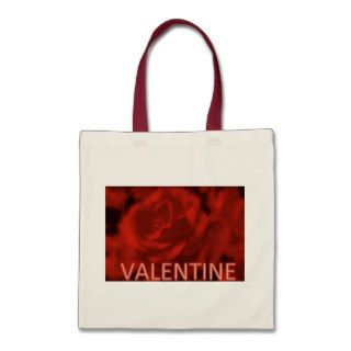 RED ROSE CANVAS BAGS   VALENTINES DAY   GIFTS
