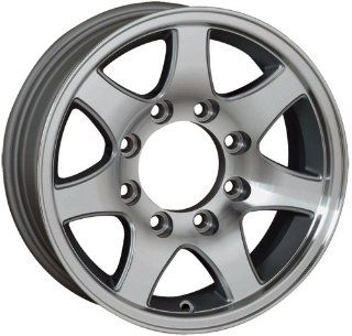 16x6 Sendel T02 Trailer Silver Machined Wheel Rim 8x165.1 8x6.5 0mm Offset 124.46mm Hub Bore Automotive