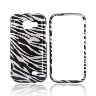 [Luxmo] Black/Silver Zebra Samsung Transform M920 Plastic Case Cover [Anti Slip] Supports Premium High Definition Anti Scratch Screen Protector; Durable Fashion Snap on Hard Case; Coolest Ultra Slim Case Cover for Transform M920 Supports Samsung M920 Devic