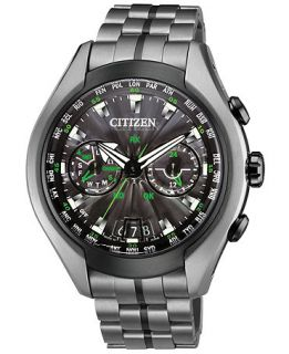 Citizen Mens Eco Drive Satellite Wave Air Gray Titanium Bracelet Watch 50mm CC1055 53E   Watches   Jewelry & Watches