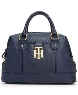 Tommy Hilfiger Monogrammed II Leather Bowler Bag   Handbags & Accessories