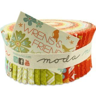 Moda Wrens and Friends Jelly Roll, Set of 40 2.5x44 inch (6.4x112cm) Precut Cotton Fabric Strips
