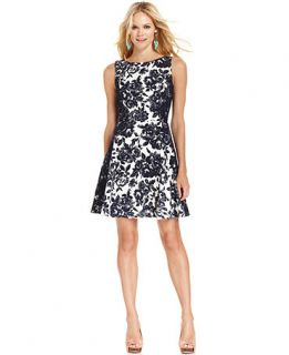 Jessica Simpson Sleeveless Floral Print Dress   Dresses   Women