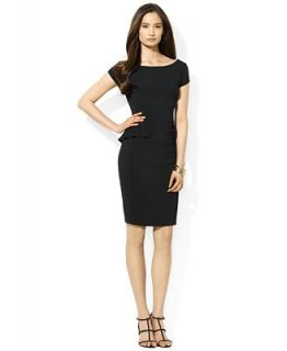 Lauren Ralph Lauren Dress, Cap Sleeve Peplum   Dresses   Women