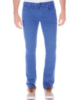 Buffalo David Bitton Six X Slim Straight Leg Jeans, White   Jeans   Men