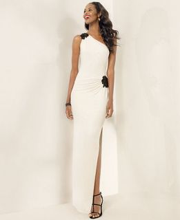 Lauren Ralph Lauren Beaded One Shoulder Gown   Dresses   Women