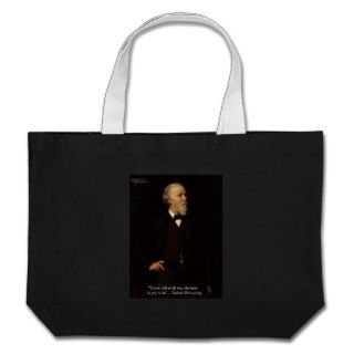 "Robert Browning ""Grow Old"" Love Quote Gifts & Tees Canvas Bag"