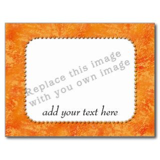 "Template ""Orange Pattern"" Post Card"