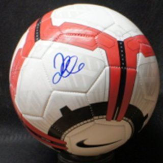 David Beckham Autographed Soccer Ball   Autographed Soccer Balls  Sports & Outdoors