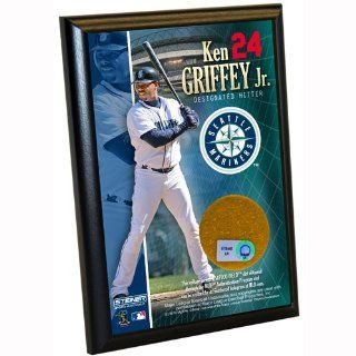 MLB Seattle Mariners Ken Griffey Jr. 4 by 6 Inch Dirt Plaque  Sports Fan Decorative Plaques  Sports & Outdoors