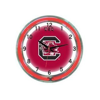 "South Carolina Gamecocks 18"" Neon Wall Clock  Sports & Outdoors"