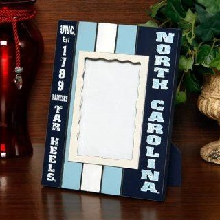 NCAA North Carolina Tar Heels (UNC) Navy Blue Carolina Blue White Striped Vertical Picture Frame  Business Card Holders