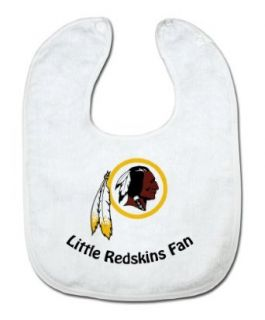 NFL Washington Redskins White Snap Bib with Team Logo  Infant And Toddler Sports Fan Apparel  Clothing