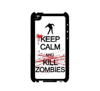 iPod 4 Touch Case Plastic Case Protective iPod 4G Touch Case Keep calm kill zombies Cell Phones & Accessories