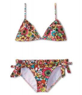 Roxy Kids Ditsy Daze Ruffle Tiki Tri Set Girls Swimwear Sets (Multi)