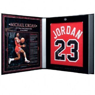 Michael Jordan Autographed Chicago Bulls 1986 87 Away/Red Jersey   Jersey Archives Box Sports Collectibles