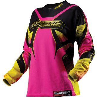 O'Neal Racing Element Racewear Women's Motocross/Off Road/Dirt Bike Motorcycle Jersey   Black/Pink / Small Automotive