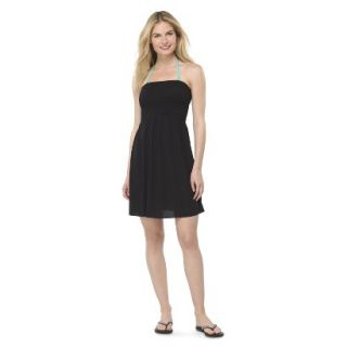 Juniors Strapless Cover up Swim Dress  Black L