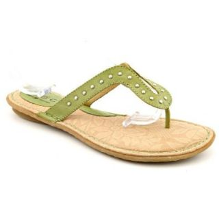 Born Concept Boleyn Womens Size 6 Green Leather Thongs Sandals Shoes New/Display Shoes