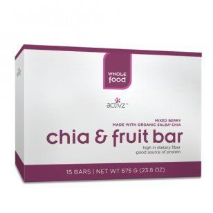 Mixed Berry Salba Chia and Fruit Bars   15 pack 675 G (23.8 oz) by Activz 675 G (23.8 oz) Health & Personal Care