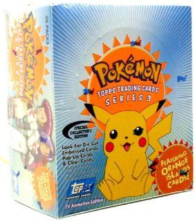 Topps Pokemon Trading Cards TV Animation Series 3 Booster Box 36 Packs Toys & Games