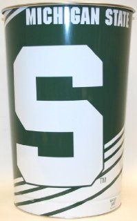 Michigan State Spartans   MSU   Official NCAA Licensed Wincraft Wastebasket / Trash Can  Sports Fan Office Waste Bins  Sports & Outdoors