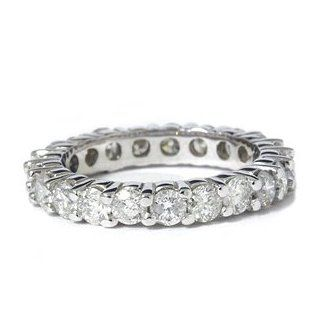 SI 2.00 Ct Diamond Eternity Wedding Ring Stackable Engagement Band White Gold Jewelry