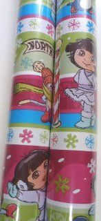 Dora the Explorer Christmas Gift Wrap Christmas Wrapping Paper 2 ROLLS Health & Personal Care