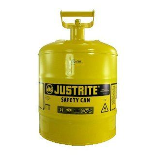 5 Gallon Galvanized Steel Yellow Safety Lid Diesel Gas Can Automotive