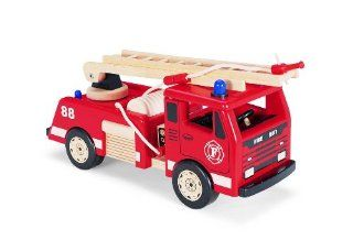 Pintoy Large Wooden Toy Fire Engine Truck Toys & Games