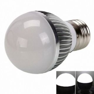 E27 3W 290 Lumen 6000K High power White LED Light Bulb (85 265V)   Led Household Light Bulbs