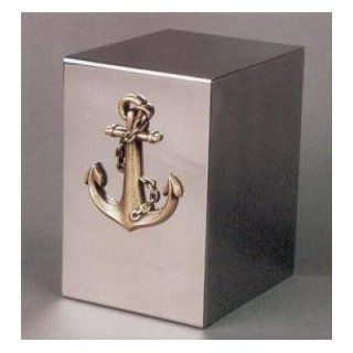 Bronze Nautical Polished Stainless Steel Cremation Urn Home & Kitchen
