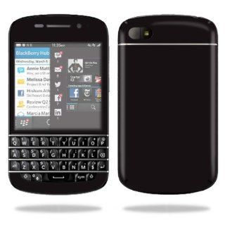 MightySkins Protective Vinyl Skin Decal Cover for BlackBerry Q10 Cell Phone SQN100 3 Sticker Skins Glossy Black Computers & Accessories