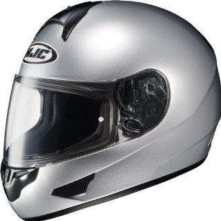 HJC CL 16 Chrome Silver Full Face Motorcycle Helmet Size Small Automotive