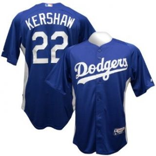 Los Angeles Dodgers Clayton Kershaw Royal Authentic Batting Practice Jersey (Medium) Clothing