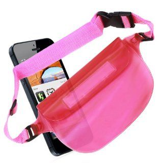 DURAGADGET Extra Secure Waterproof Protective Pouch For The New Apple iPhone 5 Mobile Phone   With Adjustable Waist Strap & Re sealable Water Tight Fastening With Added Velcro Flip Top For Added Safety   In Stylish Hot Pink   Great for Canoeing, Swimmi