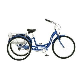 Schwinn Adult Meridian 26 3 Wheel Bike   Blue