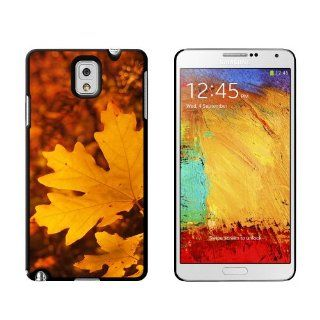 Gold Orange Leaves   Fall Autumn Colors   Snap On Hard Protective Case for Samsung Galaxy Note III 3 Cell Phones & Accessories