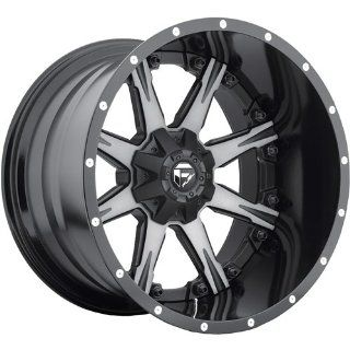 Fuel Nuts 20 Black Machined Wheel / Rim 8x180 with a 1mm Offset and a 125.2 Hub Bore. Partnumber D25220901850 Automotive