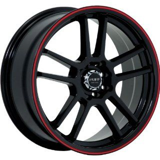 Ruff R354 18 Black Red Wheel / Rim 4x100 & 4x4.5 with a 40mm Offset and a 73.1 Hub Bore. Partnumber R354HK4BF40N73 Automotive