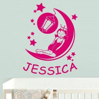 Wall Vinyl Sticker Decals Decor Art Bedroom Design Mural Modern Nursery Kids Baby Custom Name Princess (Z581)