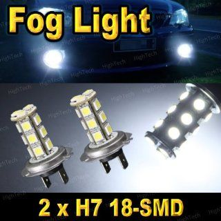 2 PCS Bright White H7 18 SMD 5050 LED Headlight Bulbs For Driving Fog Light / Day Time Running Light DRL Automotive