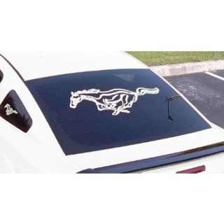 MUSTANG WHITE RUNNING HORSE DECALS 13 x 34 white running horse detailed Automotive